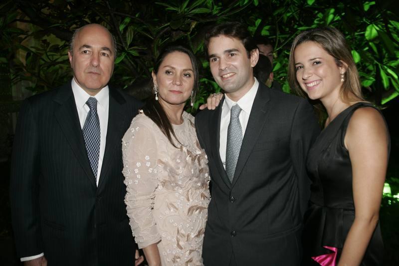 Silvio e Paula Frota, Abelardo e Viviane Rocha