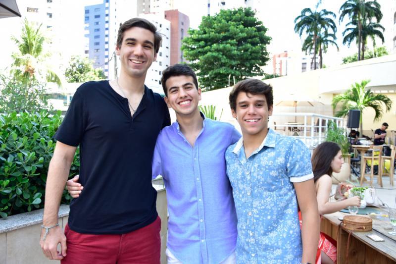 Lucas Sales, Pedro Santos e Tiago Siqueira