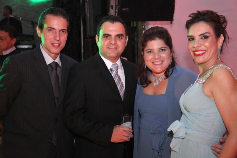 Leo e Ane Alcantara com Hebert e Gisela Vieira