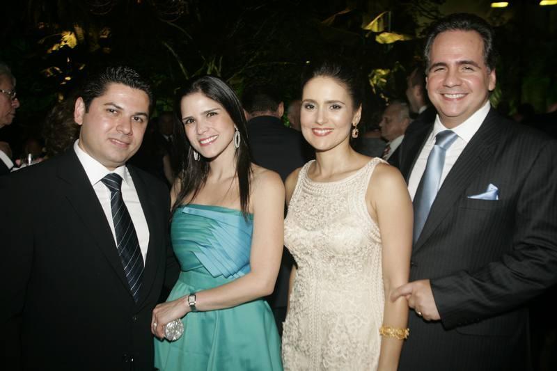 Pompeu e Marilia Vasconcelos, Manuella e Ricardo Bacelar