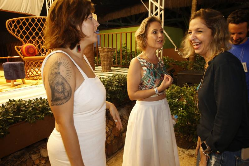 Helen Ramos, Shirley Hilgert e Michelle Magalhaes