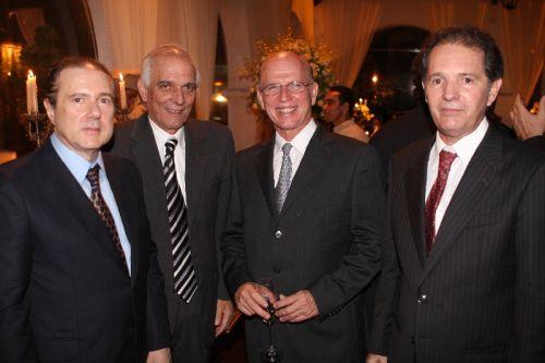 Edson Queiroz Filho, Jaime Machado, Paulo Mota e Abelardo Rocha