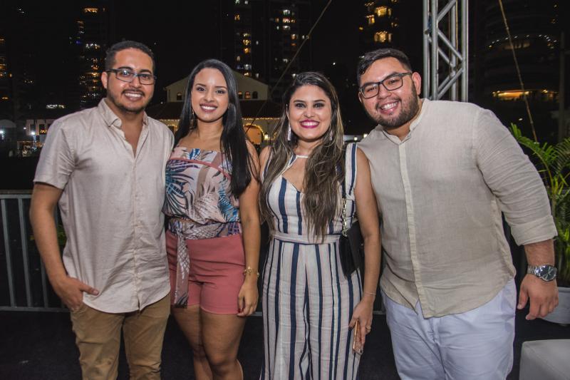 Isaac Lima, Juliana Rocha, Natiara Andrade e Iure Sousa