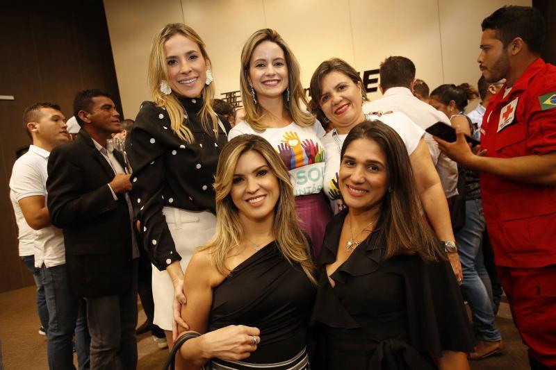 Marta Freire, Lilia Fontenele, Conceicao Borges, Erika Gomes e Tatiana Diogo