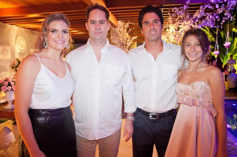 Larissa e Carlos Melo, Fabio Melo e Paula Parente