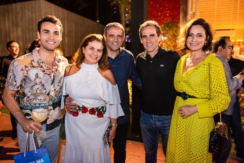 Bruno Calaca, Islane Vercosa, Andre Vercosa, Airton Facanha e Cristina Mendes