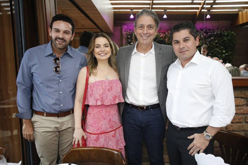 Clovis Holanda, Daniele e Afranio Barreira e Pompeu Vasconcelos