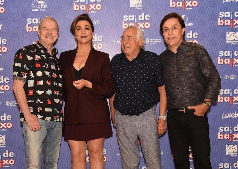 """Pré-estreia de """"Sai de Baixo"""" reúne famosos em uma sessão especial no Iguatemi São Paulo"""
