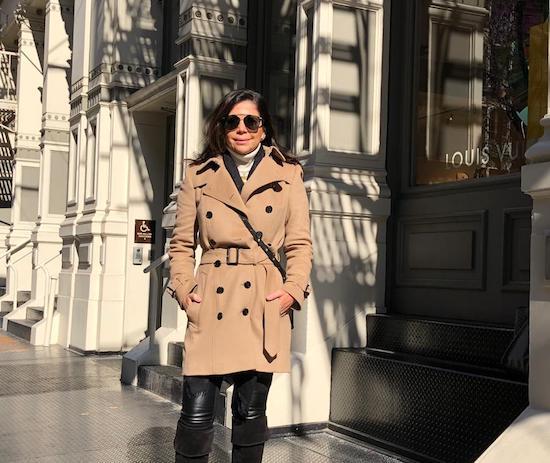 Maria Lúcia Negrão reliza pesquisa de moda em New York