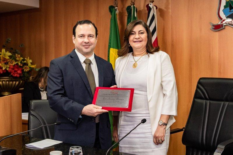 Homenagem  - Igor Queiroz Barroso é agraciado com o título de Cidadão Caucaiense