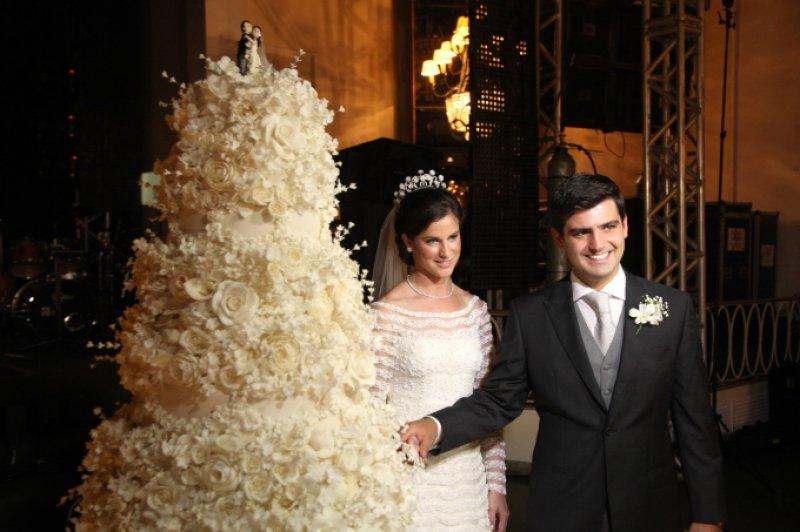 Chuva de arroz - Casamento de Beatriz Barata e Chiquinho Feitosa Filho, no Rio de Janeiro