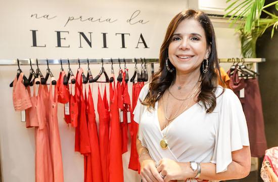 Maria Lúcia Negrão fala sobre o case da Lenita durante evento na CDL de Fortaleza