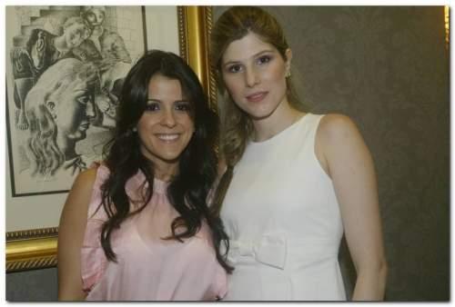 Tatiana e Uliana Machado brindaram o desembarque da Daslu na Anamac.