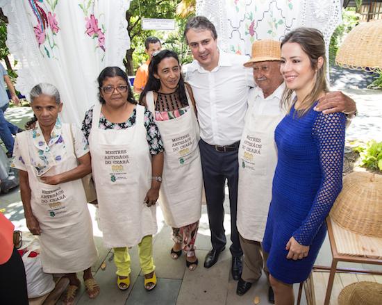 Camilo e Onélia inauguram Centro de Rendeiras da Prainha