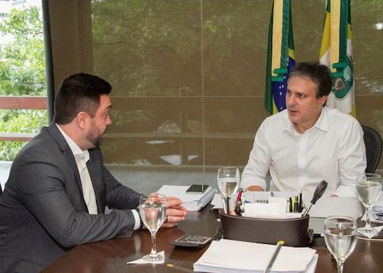 Camilo recebe presidente da Cruz Vermelha, Júlio Cals