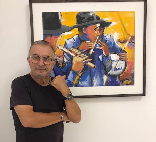 Eduardo Odécio pilota a abertura da exposição Cariri Cearense, em Juazeiro do Norte