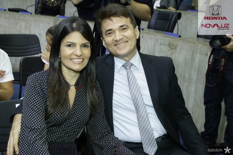 Ana Cintia Benevides e Lucio Flavio