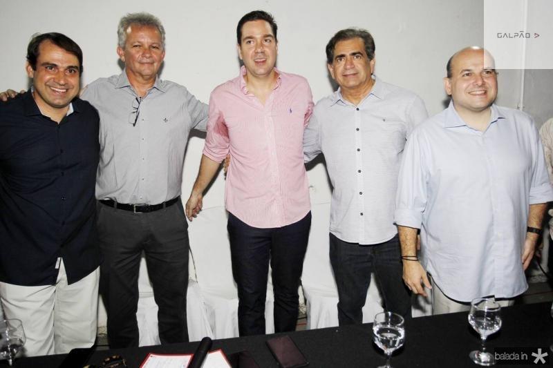 Salmito Filho, Andre Figueiredo, Eduardo Bismarck, Zezinho Albuquerque e Roberto Claudio