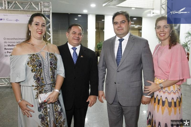 Camila e Lavanery Wandwerley, Edson e Ticiana Queiroz