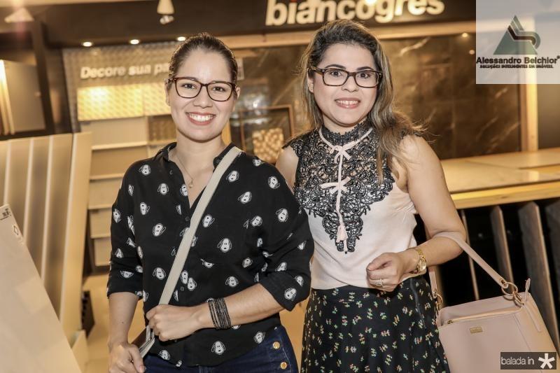 Lourdes Silveira e Daniele Alcantara