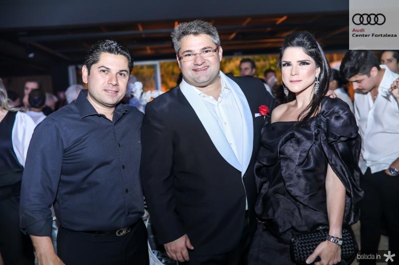 Pompeu Vasconcelos, Mario Queiros e Marilia Vasconcelos