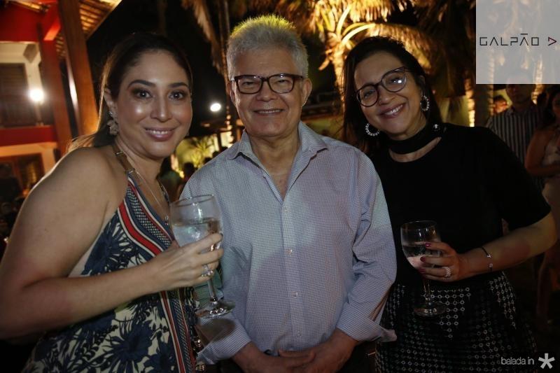Luciana Pinheiro, Anastacio e Telma Queiroz