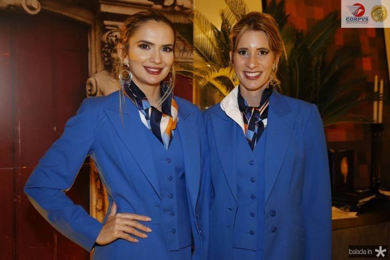 Isabelle Guimaraes e Ajara Rodrigues