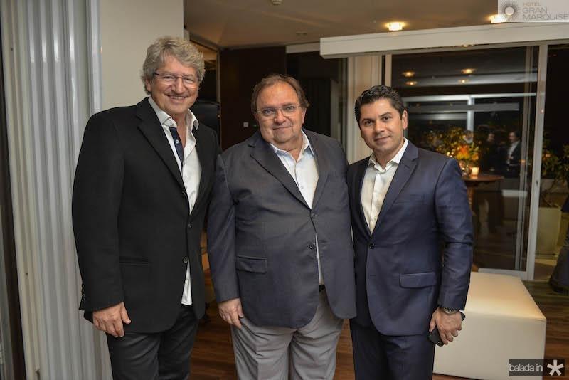 José Paulo Emsenhuber, Manoel Macêdo e Pompeu Vasconcelos