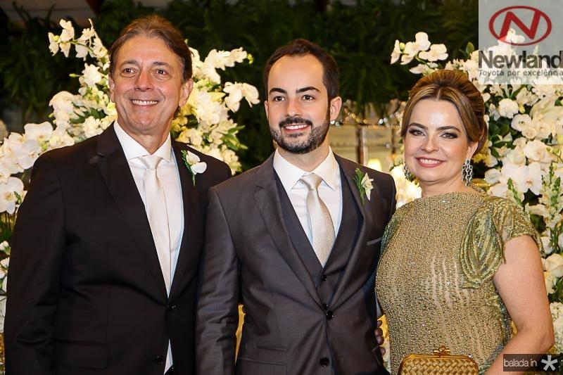 Afranio, Felipe e Daniele Barreira