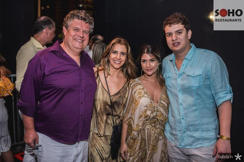 Evandro Colares, Elisiane Colares, Gessica Guimaraes e Guilherme Colares