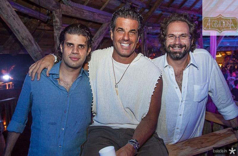 Bruno Borges, Alvaro Garnero e Luis Antonio Valadares