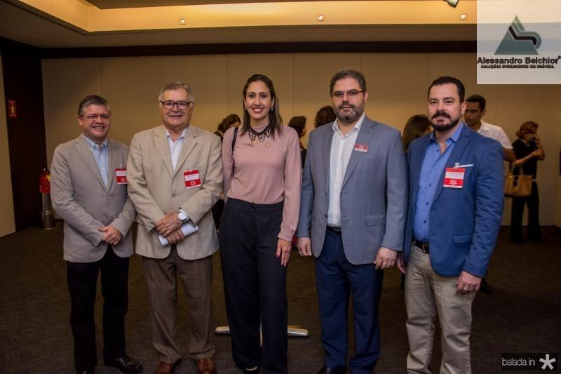 Sidney Girao, Sulivan Mota, Alessandra Romano, Edson Queiroz Neto e Miguel Dias