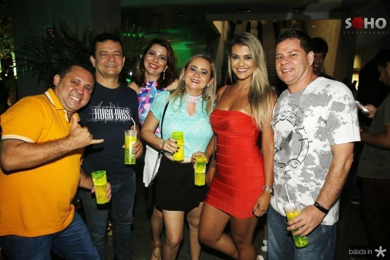 Adriano Souza, Sergio Fontenele, Andrea Freitas, Val Vasconcelos, Archele Souza e Eduardo Simao