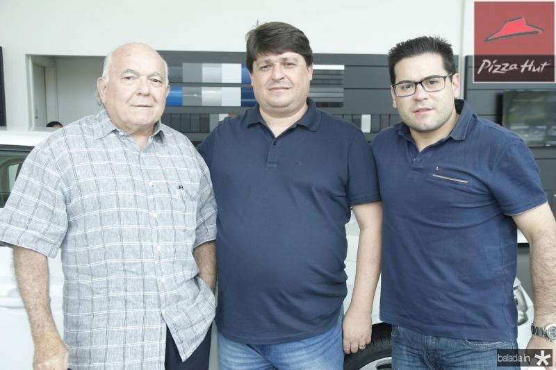 Jose Carlos Pinheiro, George Lima e Edmilson Pinheiro