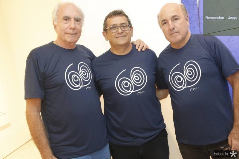 Jonny Wolff, Jose Guedes e Silvio Frota