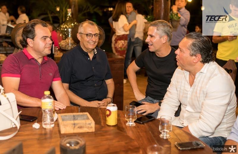 Gentil Linhares, Odilon Peixoto, Adolfo Bichucher e Claudio Leal