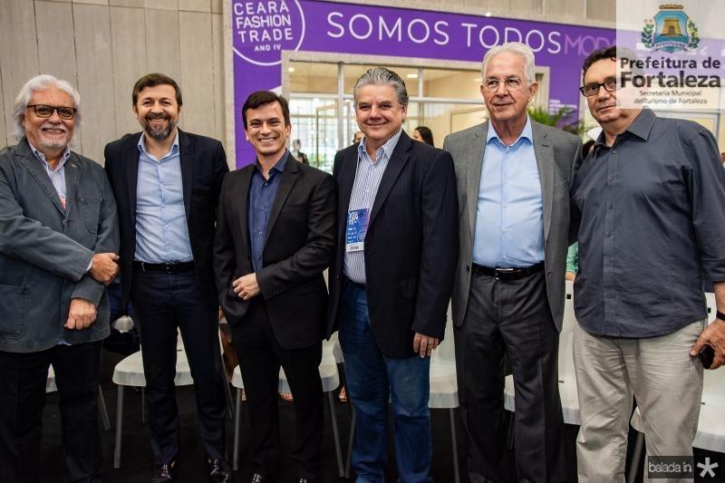 Joaquim Cartaxo, Elcio Batista, Rafael Cabral, Chico Esteves, Carlos Prado e Carlos Rubens