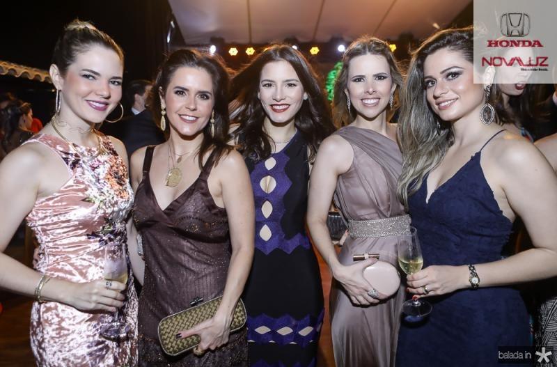 Ticiana Boris, Cristina Brandao, Sarah Totquato, Aline Mota e Camila Alencar