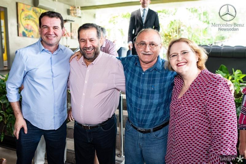 Josbertini Clementino, Carlos Lupi, Geraldo Sinecio e Cristina Brasil