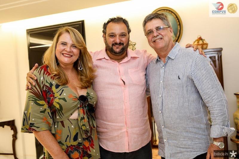 Patriolino Dias com Valéria e José Carlos Gama
