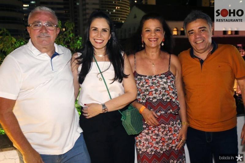 Alcimor e Fabiola Rocha, Marilia e Serginho Esteves