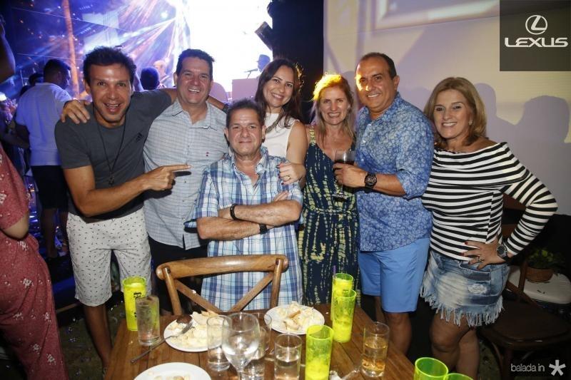 Ronaldo Costa Lima, Fabio Junior, Ze Gotinha, Camila Nobre, Diana e William Vercosa e Lolo Moreira