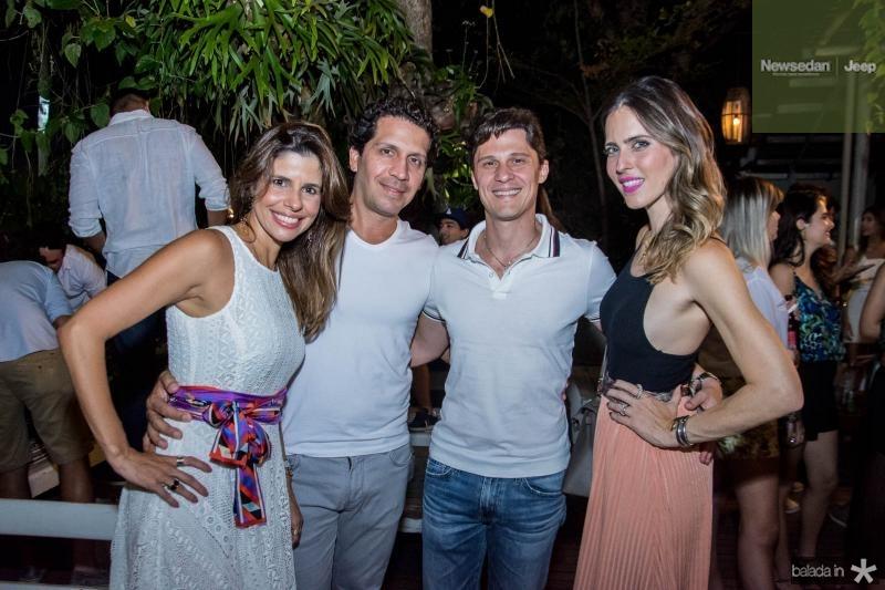 Ticiana Oliveira, Bruno Oliveira, Eugenio Porto e Marcela Porto