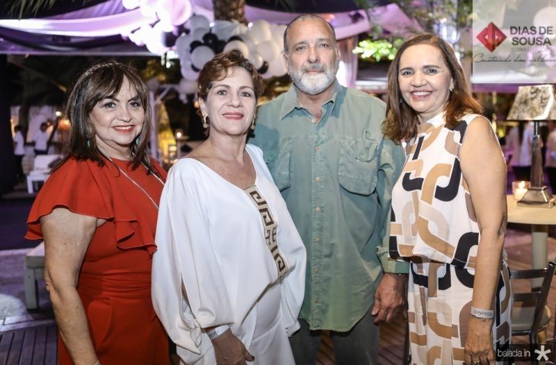 Carmen Cinira, Lilian Quindere, Jorge Fiuza e Lucia Rocha