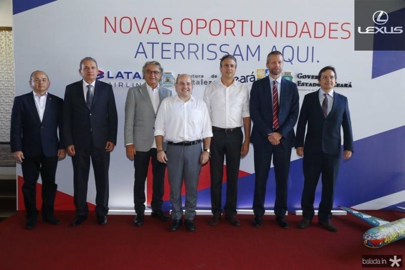 Sergio Aguiar, Washington Luiz, Arialdo Pinho, Roberto Claudio, Camilo Santana, Jerome Cardie e Edilberto Pontes 2