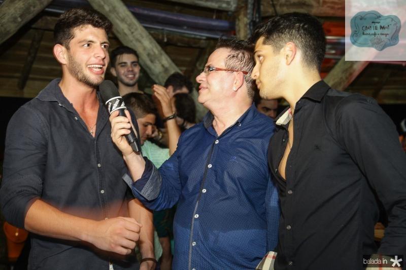 Felipe Barra, Walney Haidar e Marcelo Barra