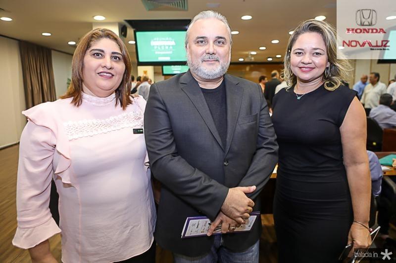 Meire Benevides, Jean-Paul Prates e Merilele Medeiros