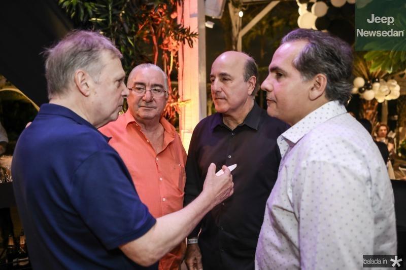 Tasso Jereissati, Murilo Belchior, Silvio Frota e Ricardo Bacelar