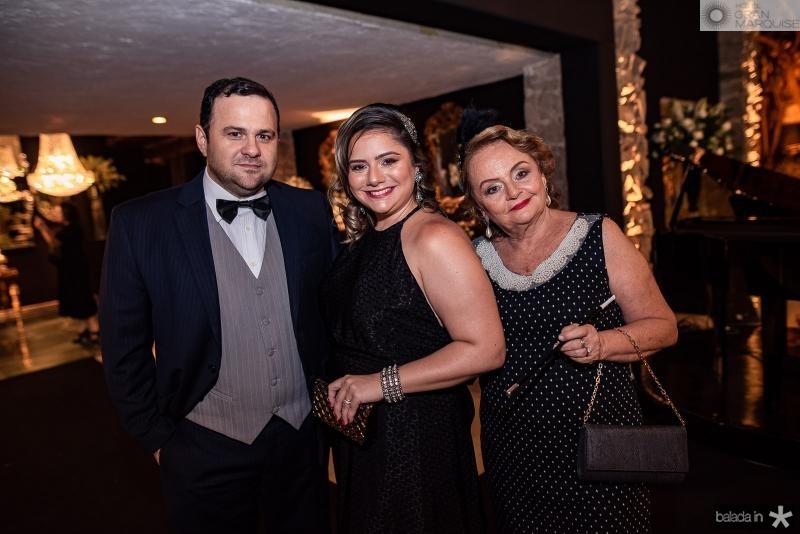 Leandro Albuquerque, Karla Rodrigues e Maria Angela