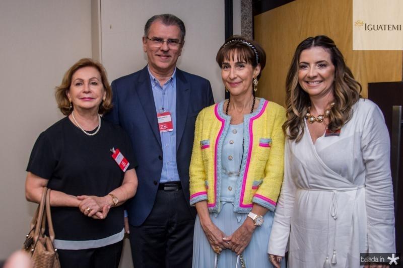 Fatima Veras, Randal Pompeu, Emilia Buarque e Viviane Senna